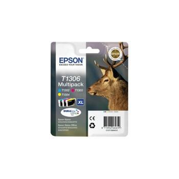 Zestaw tuszy  Epson  T1306  do  Stylus BX-525WD/535WD, SX620FW | 30,3ml | CMY