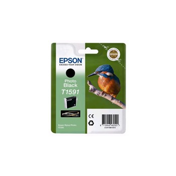 Tusz  Epson T1591  do Stylus Photo  R2000 | 17ml |  photo  black