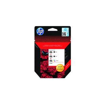Zestaw tuszy HP 46 do DJ 4729/2029/2529/2520 | 2x Black + 1x Colour