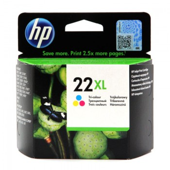 Tusz HP 22XL do Deskjet 3940/D2360/D2460/F380 | 415 str. | CMY