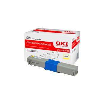 Toner Oki do C301/321/ MC342/MC332 | 1 500 str. | yellow