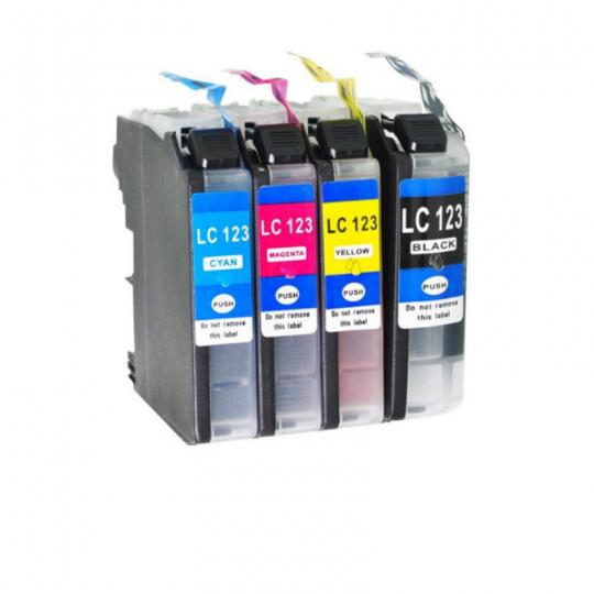 Zamienny zestaw tuszy Brother LC-123 CMYK XL| 4 x 600 str. | CMYK