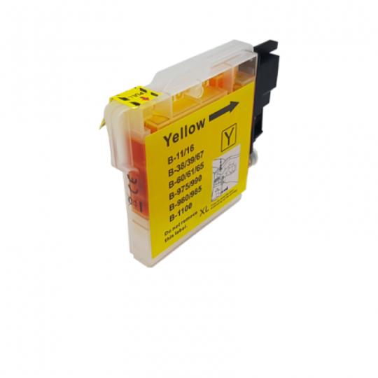 Zamiennik Tusz Brother LC-980 LC-1100 Y | 400 str. | yellow